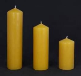 Beeswax Pillars 50mm