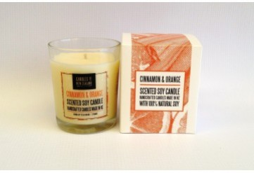 Cinnamon & Orange Soy Candle with Box
